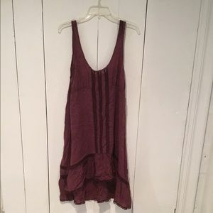 Free People INTIMATELY dress size M Burgundy color